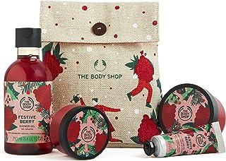 The Body Shop Festive Berry- 4pc Holiday Gift Set, 17.92 Fl Oz