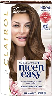 Clairol Nice'n Easy Permanent Hair Color, 5W Medium Mocha Brown, Pack of 1
