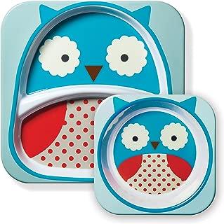 美国 SKIP HOP 可爱动物园餐具碗碟套组 猫头鹰SH252203