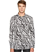 Versace Collection - Linear Print Button Down