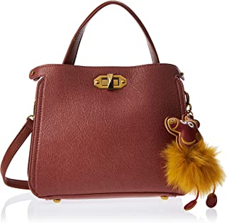 Zeneve London Satchels Bag For Women, Peach, 119183096141
