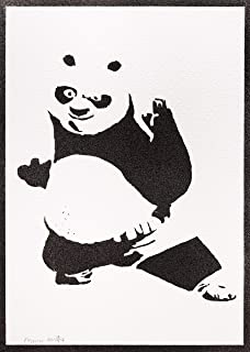 Poster Kung Fu Panda Handmade Graffiti Street Art - Artwork