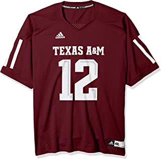 adidas Texas A&M Aggies NCAA Men's #12 Replica Football Jersey - Maroon