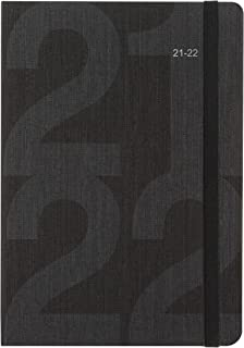 Letts Block A5 academic 21-22 day to a page diary - black