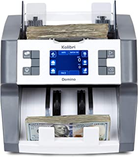 Kolibri Domino Bank Grade Mixed Denomination Money Counter Machine Cash Counter Bill Counter and Bill Reader with UV,MG,IR Counterfeit Detector