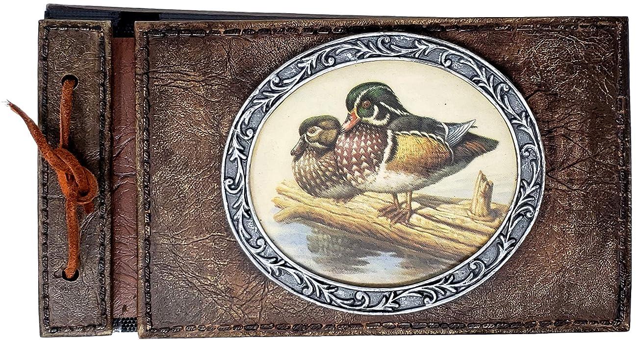 Rainbow Inc PF6430 Wood Duck Photo Album, 24 Photos, Rustic Cabin Decor