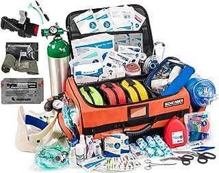 Sponsored Ad - Scherber Fully-Stocked Premium First Responder Bag   Large Pro EMT/EMS Trauma, Bleeding & Oxygen Medical Ki...