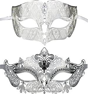 Couple's Venetian Masquerade Mask Set Luxury Style Princess Party Mask