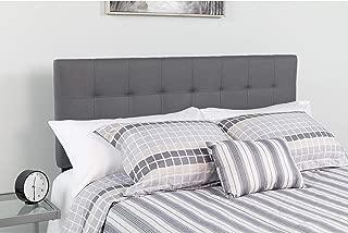 Flash Furniture Bedford Tufted Upholstered King Size Headboard in Dark Gray Fabric - HG-HB1704-K-DG-GG