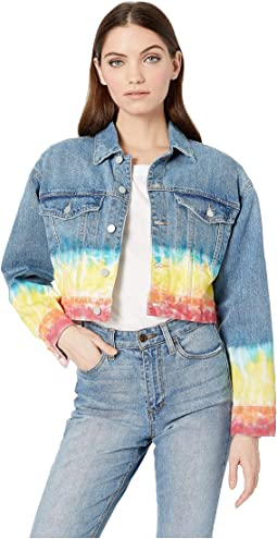 Tie-Dye Denim Jacket in Blow The Bag