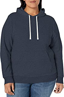 Women's Plus Size French Terry Fleece Pullover Hoodie