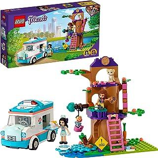 LEGO Friends Karetka weterynaryjna 41445 — zestaw konstrukcyjny; idealny prezent urodzinowy dla dzieci, które uwielbiają z...