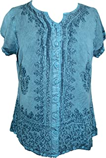 144 B Medieval Bohemian Embroidered Top Shirt Blouse