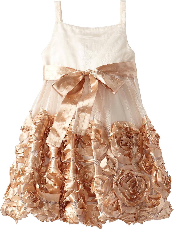 Bonnie Jean Gold Glitter Bonaz Special Occasion Dress (2T-4T)