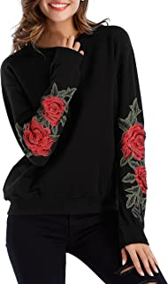 Best embroidered floral hoodie Reviews
