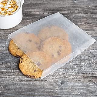 Flat Glassine Wax Paper Sandwich Bags 6 x 7 x 3/4. Waxed Paper Bags (100)