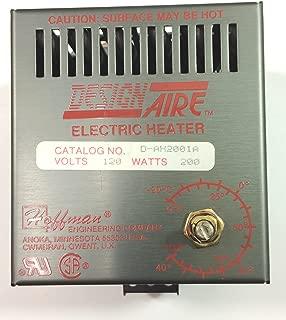 Hoffman DAH2001A Electric Heater, Aluminum, 200W, 115V, 50/60 Hz