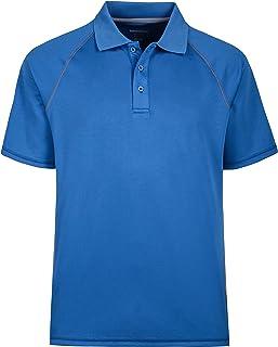 b4544574 Men's Short Sleeve Moisture Wicking Performance Golf Polo Shirt, Side  Blocked, Tall Sizes: