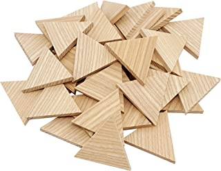 "2"" Wood Triangle Cutout Shapes Unfinished Wood Mosaic Tile - 40 pcs"