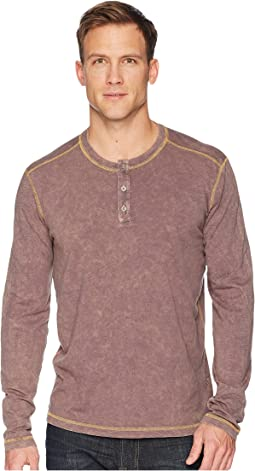 Freight Train Long Sleeve Three-Button Henley