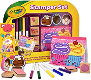 Crayola Stamp Activity Set, Mess Free Craft Kit for Toddlers and Kids, Drawing Art Supplies Includes Sketch Book, Gift Bou...