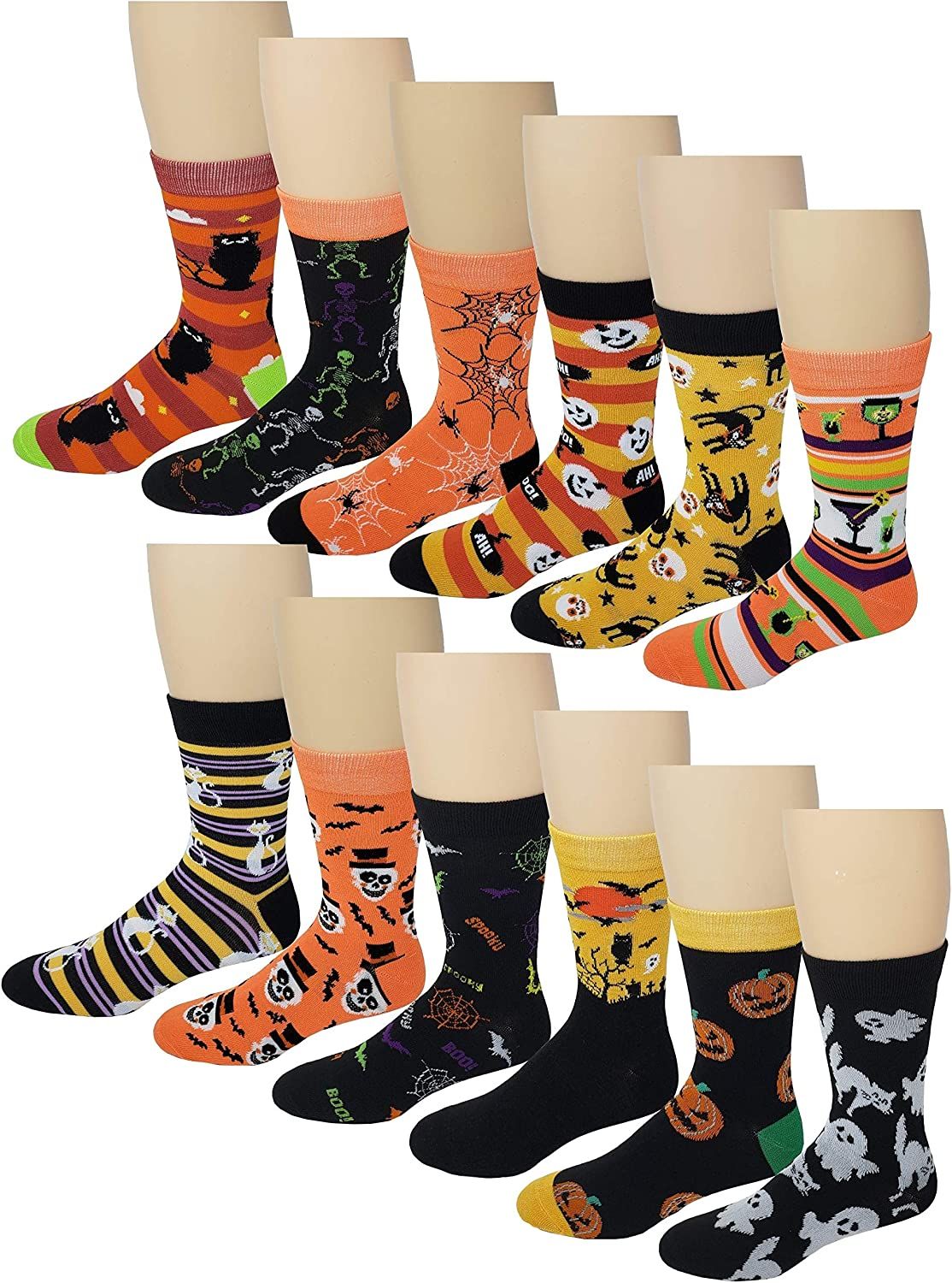 Challenge the lowest price 12 Pairs 6 Men Colorful 10-13 Dress Design Fashion At the price socks