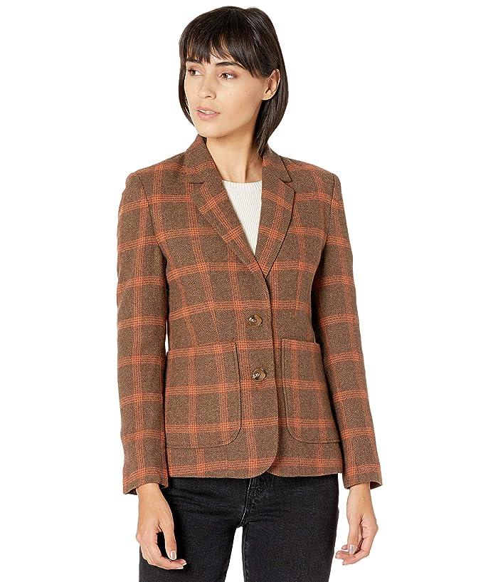 New Vintage Style Coats & Jackets – 30s, 40s, 50s, 60s BB Dakota Talkshow Host Blazer Jacket Brown Womens Clothing $99.00 AT vintagedancer.com