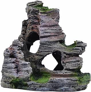 pranovo Mountain View Decor Rockery Landscape Rock Hiding Cave Tree Aquarium Ornament Fish Tank Decoration
