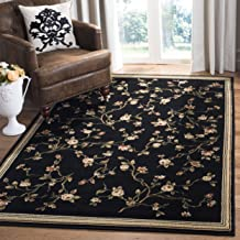 Safavieh Lyndhurst Collection LNH220A Traditional Floral Black Area Rug (8' x 11')