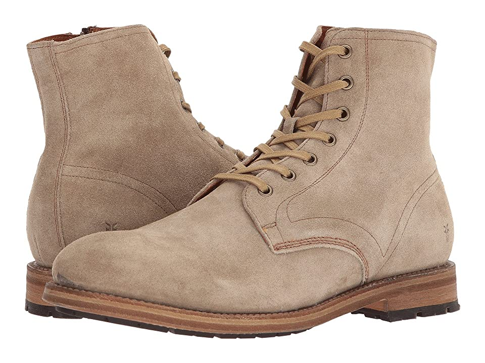 Frye Bowery Lace-Up (Ash Washed Waxed Suede) Men