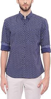 BASICS Slim Fit Insignia Navy Printed Shirt
