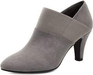 Womens Bobbie Heel Ankle Booties