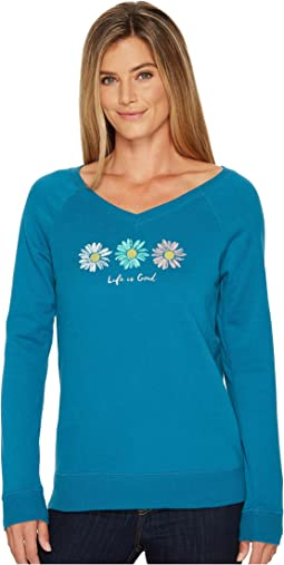 Life is Good - Three Daisies Go-To Long Vee