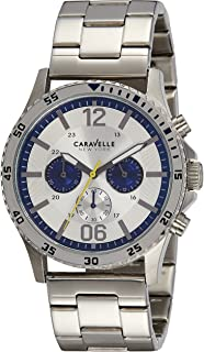 Caravelle New York 43A130 Stainless Steel Chronograph Watch