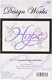 Tobin DW9796 14 Count Hope Counted Cross Stitch Kit, 5 by 7-Inch