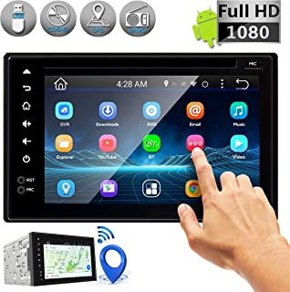 Double DIN Android Stereo Receiver - Car Head Unit System w/ Rear View Backup Camera Support, 6 Inch Touchscreen LCD, 3G W...