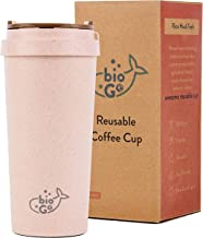 bioGo Cup, Rice Husk Fibre, BPA-Free, Double Wall Insulation Reusable Coffee Cups,..