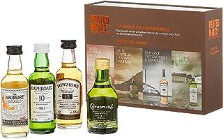 Peated Malts Whisky Geschenkset Mit Bowmore, Laphroaig, Connemara, the Ardmore, 4 x 0,05l, 4er Pack