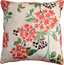 """Mabe Cotton Cushion Cover - 18"""" X 18"""", Ivory"""