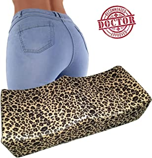 CheckBox BBL Pillow - Brazilian Butt Lift Pillow Quality Foam with Booty Support Technology for Petite Frame Size - Dr. Approved for Post Surgery Recovery Relief Off Loading Leopard Print