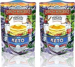 Birch Benders Original Keto Pancake & Waffle Mix, Low-Carb, High Protein, Grain-free, Gluten-free, Keto-Friendly, Made with Almond, Coconut & Cassava Flour, 2 Pack Original Keto 10oz each