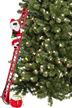 "Mr. Christmas 40"" Super Climbing African American Plush Santa Christmas Décor, Multi Color"