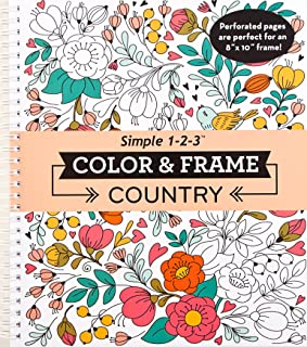 Color & Frame Coloring Book - Country
