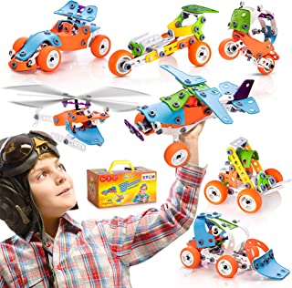 STEM Learning Toy For Boys Age 7-12 - 132 Pcs - Erector Set Mechanical Educational Construction Engineering Building Toy S...