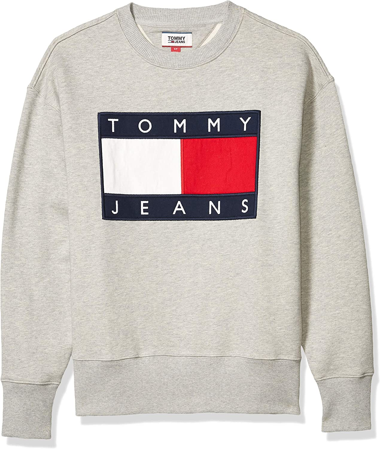 Limited time Popular product cheap sale Tommy Hilfiger Flag Sweatshirt Patch Crewneck
