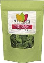 Dried Kaffir Lime Leaves, used in Tom Yum Thai soup from Citrus Hystrix plant, Makrut, Kosher