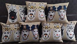 Teste di moro, cuscini decorativi per divano 50 x 50 cm, accessori siciliani