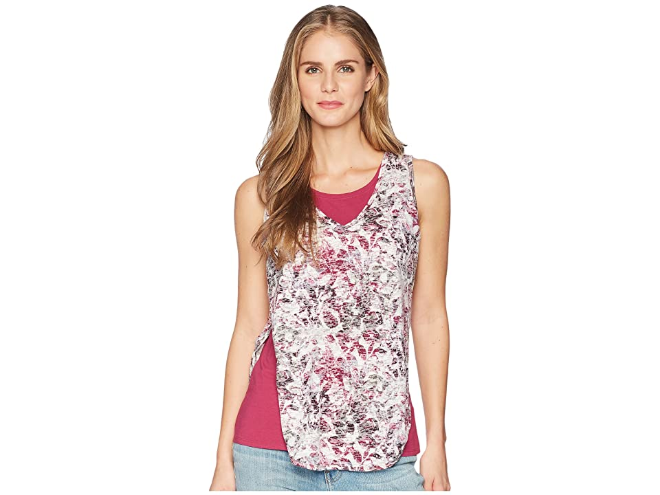 Royal Robbins Burnout Double Tank Top (Raspberry Print) Women