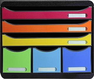 Exacompta - Réf. 306798D - STORE-BOX - Caisson 6 tiroirs, 3 tiroirs pour documents A4+ et 3 tiroirs fins hauts - Dimension...