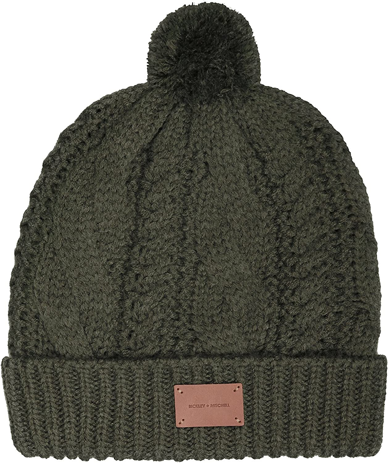 Bickley & Mitchell Womens Cable Beanie with Fleece Inside Beanie Hat